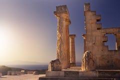 Aphaiatempel op Aegina-Eiland, Griekenland Royalty-vrije Stock Foto