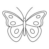 Aphantopus butterfly icon, outline style Stock Image