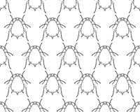 Aphid contour pattern Royalty Free Stock Photography