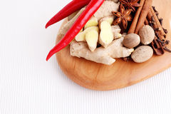 Aphrodisiac. All you need to have fun - herbs and spices stock photography