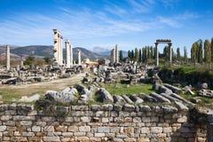 Aphrodisias, ágora Fotografia de Stock