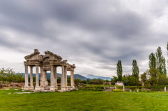 Aphrodisias Ancient City, Turkey. The beautiful city Aphrodisias is one of the finest archaeological sites of Anatolia Turkey, still partly excavated and partly Stock Images