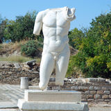 Aphrodisias - Męska półpostaci rzeźba - Turcja obraz stock