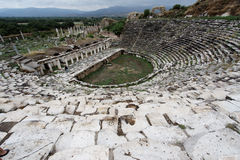 Aphrodisias Odeon Turkije Stock Fotografie