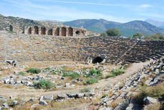 Aphrodisias - römisches Stadion - die Türkei Lizenzfreies Stockbild