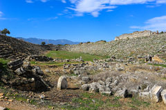 Aphrodisias Stadium ruins  in Aphrodisias Turkey Stock Photography