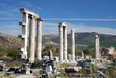 Aphrodisias - tempel av aphroditen - Turkiet Arkivfoton