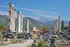 Aphrodisias - tempel av aphroditen - Turkiet Arkivbild