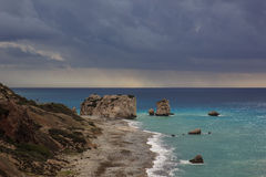 Aphrodite& x27 βράχος του s, Κύπρος Στοκ εικόνες με δικαίωμα ελεύθερης χρήσης