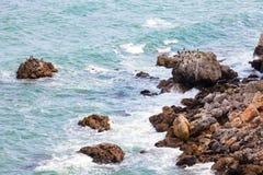 aphrodite τόπος γεννήσεως Κύπρος κοντά στα κύματα tou romiou βράχου PETRA paphos Στοκ φωτογραφία με δικαίωμα ελεύθερης χρήσης