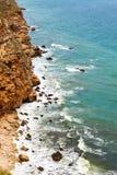 aphrodite τόπος γεννήσεως Κύπρος κοντά στα κύματα tou romiou βράχου PETRA paphos Στοκ Εικόνα
