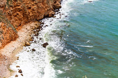 aphrodite τόπος γεννήσεως Κύπρος κοντά στα κύματα tou romiou βράχου PETRA paphos Στοκ εικόνα με δικαίωμα ελεύθερης χρήσης