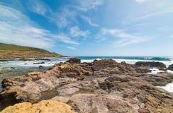 aphrodite τόπος γεννήσεως Κύπρος κοντά στα κύματα tou romiou βράχων PETRA paphos Στοκ Φωτογραφίες
