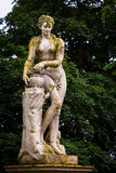 Aphrodite. Antic sculpture of aphrodite covered with moss Stock Photography