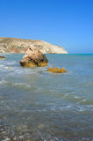 Aphrodite bay in Cyprus Royalty Free Stock Images