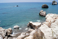 Aphrodite beach, Cyprus Stock Images