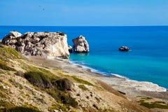 Aphrodite beach on Cyprus Stock Photo