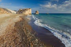 Aphrodite Beach un jour ensoleillé Image stock