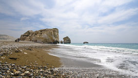 Aphrodite birth place in Cyprus royalty free stock photo