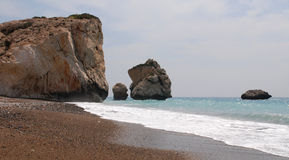 Rocks of Aphrodite, Paphos, Cyprus Stock Photos