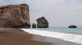 Rocks of Aphrodite, Paphos, Cyprus. Also called Petra tou Romiou Stock Photos