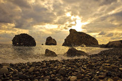 Aphrodite birthplace. (Petra Tou Romiu) place in Cyprus where goddess of love was born Stock Images