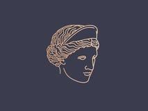 Aphrodite logo. Head. icon fashion label Stock Images