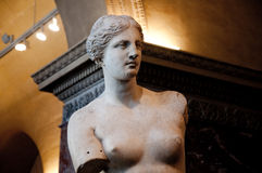 Aphrodite of Milos in the Louvre Museum. Stock Photography