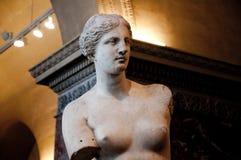 Aphrodite Milos w Louvre Muzeum. fotografia stock