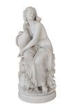 Aphrodite mit einer Gans - lokalisierte Statue im Achilleion in Korfu Stockbilder