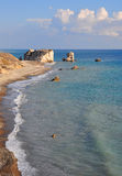 Aphrodite Rock beach, Cyprus Royalty Free Stock Images