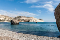 Aphrodite Rock in Cyprus Stock Photo
