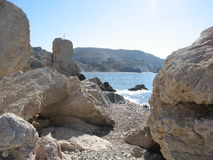 Aphrodite rock, Paphos, Cyprus. Royalty Free Stock Photo