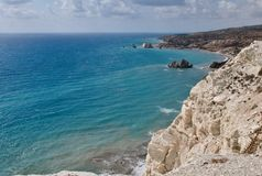 Aphrodite s birthplace  of Cyprus Stock Images