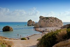Aphrodite s birthplace  of Cyprus Royalty Free Stock Photo