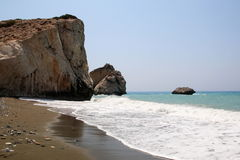 Aphrodite`s birthplace. Aphrodite`s Rock or Petra tou Romiou.Cyprus Stock Photography