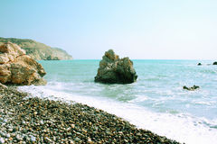 Aphrodite's legendary birthplace in Cyprus. Stock Image