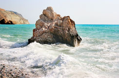 Aphrodite's legendary birthplace in Cyprus Stock Images