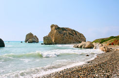 Aphrodite's legendary birthplace in Cyprus Royalty Free Stock Photos