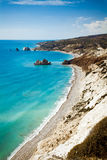 Rock of Aphrodite in Pafos, Cyprus. Aphrodite's legendary birthplace in Paphos, Cyprus Stock Image