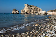 Aphrodite`s Rock beach. Petra tou Romiou, Cyprus Stock Photo