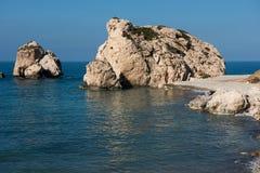 Aphrodite`s Rock beach. Petra tou Romiou, Cyprus Stock Images