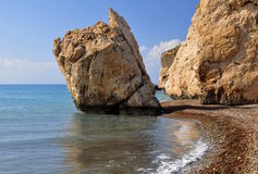 Aphrodite's Rock, Cyprus. Stock Images