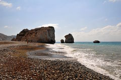 Aphrodites Rock, Cyprus. Royalty Free Stock Image