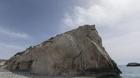 Aphrodite s Rock, Cyprus. Mediterranean, geology.  Holiday Destination Royalty Free Stock Image