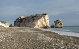 Aphrodite`s Rock-Petra Tou Romiou-Cyprus royalty free stock photo