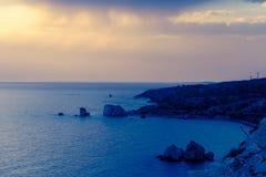 Aphrodite` s Rots, Cyprus Royalty-vrije Stock Afbeeldingen