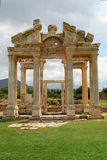 Aphrodite's temple. The entrance to Aphrodite's temple at  Aphrodisias, Turkey Stock Photo