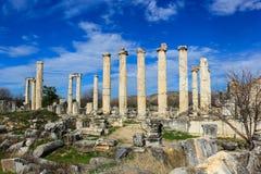 Aphrodite Temple ruins  in Aphrodisias Turkey Stock Photo