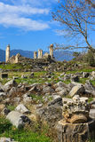 Aphrodite Temple ruins  in Aphrodisias Turkey Royalty Free Stock Images